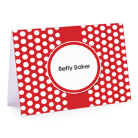 Red White Polka Fold-Over Note Card