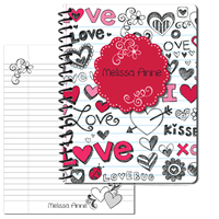Doodle Love - Large Personal Journal 2014
