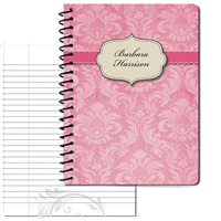 Vintage Pattern 01 Pink - Large Personal Journal