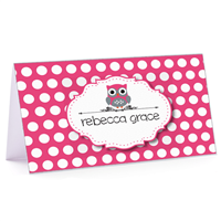 Tiny Note Owl Polka Pink
