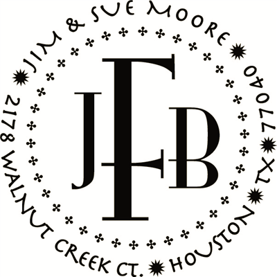 City Monogram Stamp