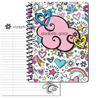 Rainbow Doodle Large Personal Journal