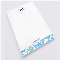 Blue Flower Print Notepad