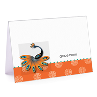 Penny's Peacock Fold-Over Note Card