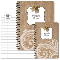 Burlap Bow Journal Set