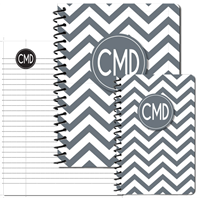 Modern Chevron Grey Journal Set