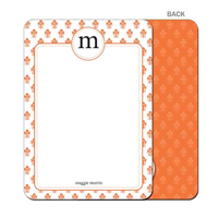 Damask - Orange- Flat Notecard