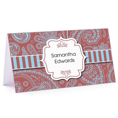 Tiny Note Marsala Paisley