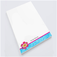 Flower Flourish Personal Notepad