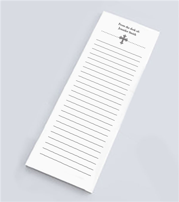 Wrought Iron Cross Skinny Notepad