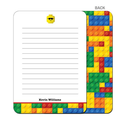 Building Blocks Flat Notecard