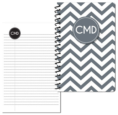 Modern Chevron Gray Small Personal Journal