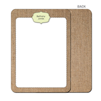 Burlap Fun Green Flat Notecard