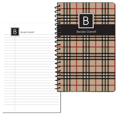 BeeBerry Plaid Small Personal Journal