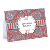 Marsala Paisley Fold-Over Note Card