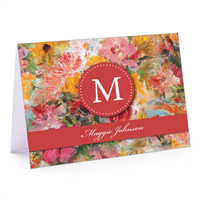Flower Garden Fold-Over Note Card