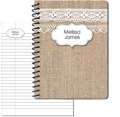Burlap & Lace Large Personal Journal