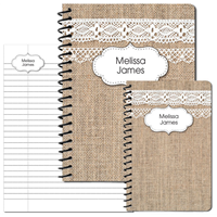 Burlap & Lace Journal Set