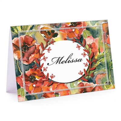 Pretty Poppy Fold-Over Note Card