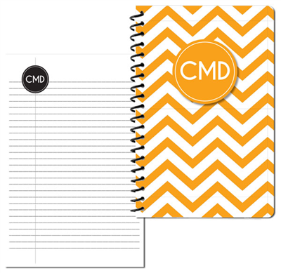 Modern Chevron Gold Small Personal Journal