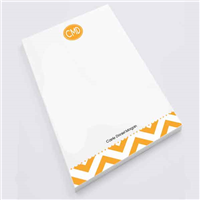 Modern Chevron Gold -  Personal Notepad