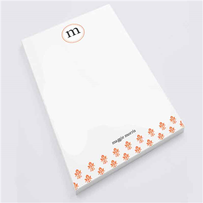 Orange Damask Notepad