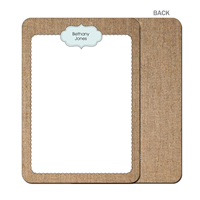 Burlap Fun Blue Flat Notecard