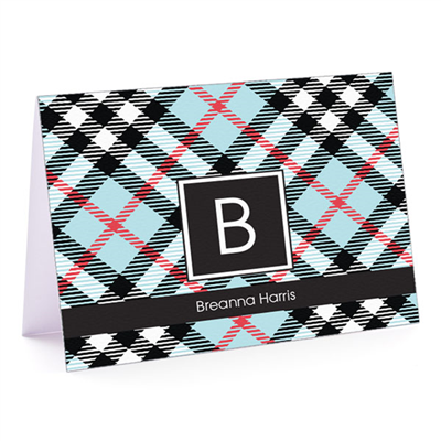 Peabody Plaid Fold Over Note Card
