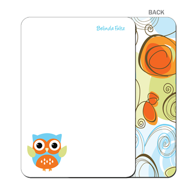 Autumn Owl Flat Notecard
