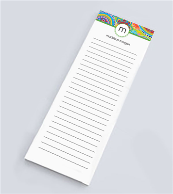 Paisley Party Skinny Notepad