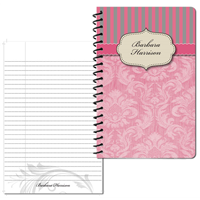 Vintage Pattern 02 Pink - Small Personal Journal