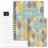 Tuscan Tiles Teal Journal Set