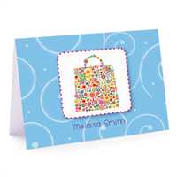 Pretty Purse Fold Over Note Card