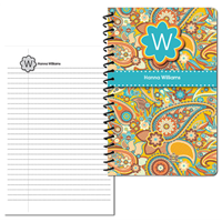 Marsha's Paisley Small Personal Journal