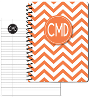 Modern Chevron Orange Large Personal Journal