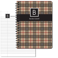 BeeBerry Plaid Large Personal Journal 2014