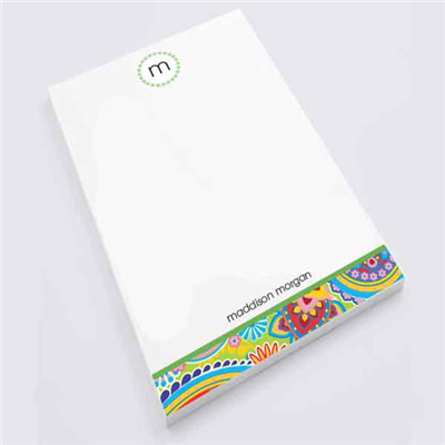 Paisley Party Notepad