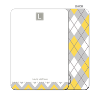 Argyle Angie! Flat Note Card