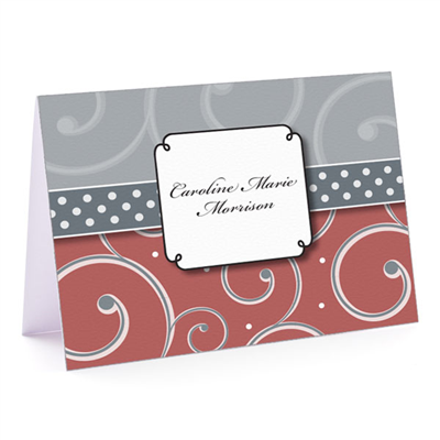 Marsala Swirl Fold-Over Note Card