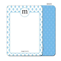 Damask - Blue - Flat Notecard