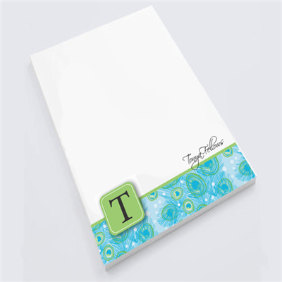 Peacock Plume Notepad