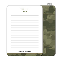 Camo Craze Flat Notecard