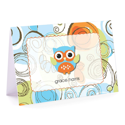Autumn Owl Fold-Over Note Card