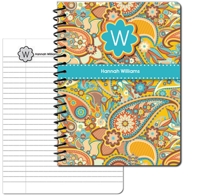 Marsha's Paisley Large Personal Journal