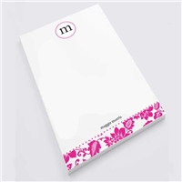 Fuschia Flower Print Notepad