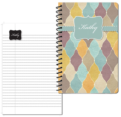 Tuscan Tiles Teal Small Personal Journal