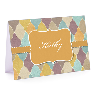 Tuscan Tiles Gold- Fold-Over Note Card