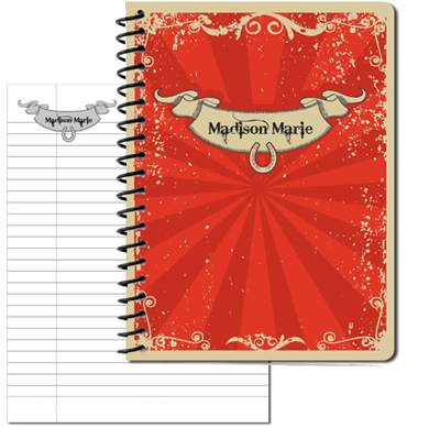 Red Vintage Large Personal Journal