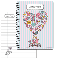 Bicycle for Two Large Personal Journal 2014