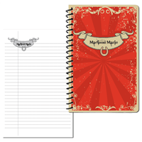 Red Vintage Small personal Journal